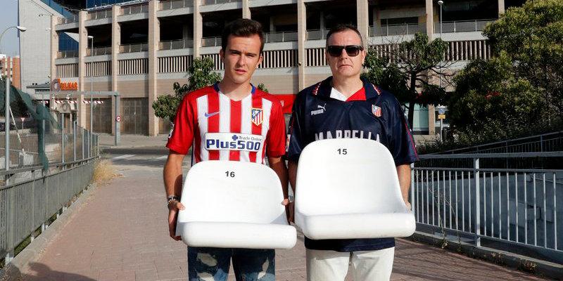 Фанаты «Атлетико» забрали кресла со старого стадиона клуба. Их даже высылали с курьером