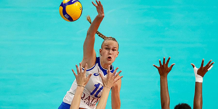 Российские волейболистки одержали вторую победу на чемпионате Европы