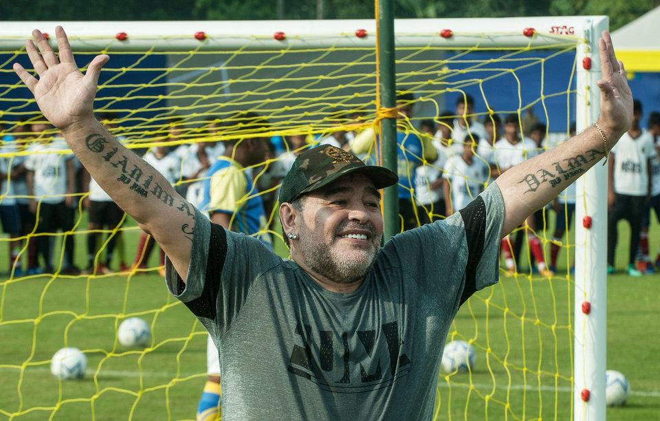 Вратарь «Дорадоса» сделал татуировку с лицом Марадоны
