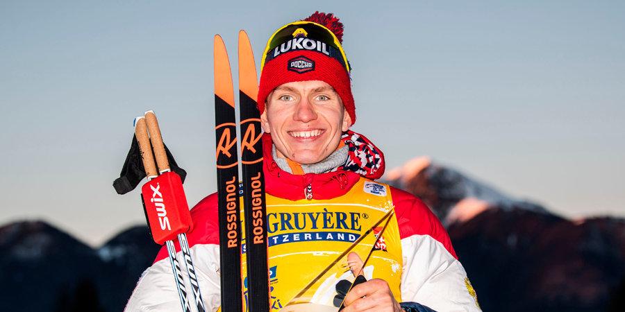 Александр Большунов — победитель «Тур де Ски»! Три дня назад ему разбили лицо палкой