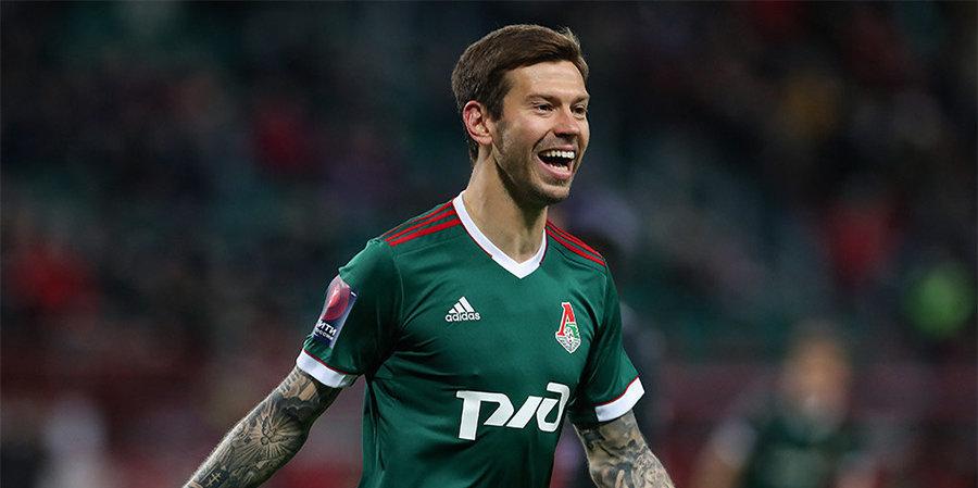 Смолов признан лучшим игроком матча «Локомотив» — «Краснодар»