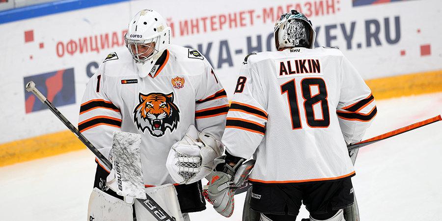 ЦСКА дома проиграл «Амуру» в КХЛ, пропустив пять шайб