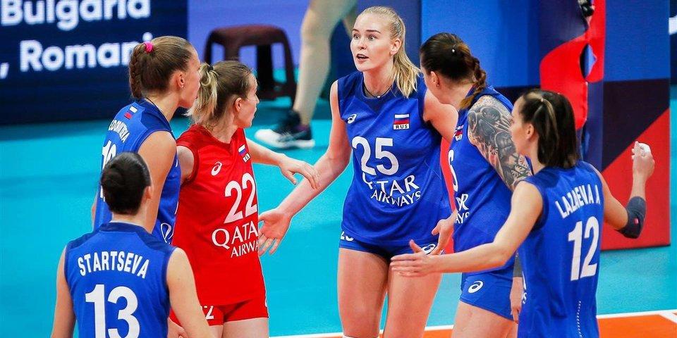 Российские волейболистки отыгрались с 0:2, но все же уступили действующим чемпионкам Европы. За сербок болел весь стадион
