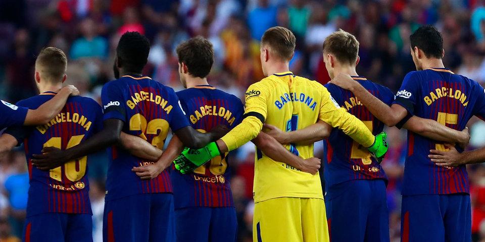 Первый матч «Барселоны» после теракта. 10 очень грустных фото и видео