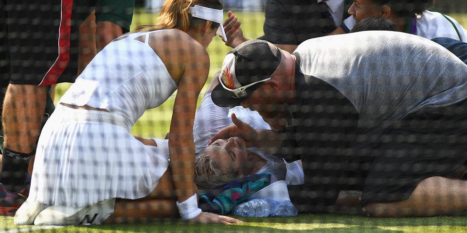 Маттек-Сандс попала в больницу после матча на Уимблдоне