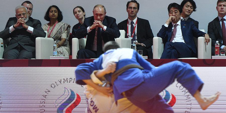 Путин посетил турнир по дзюдо во Владивостоке и обратился к его участникам