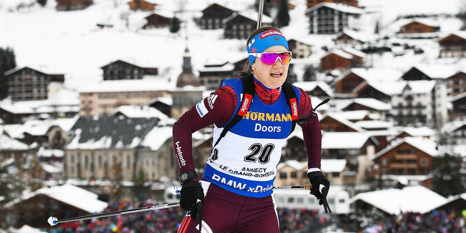 Дальмайер выиграла гонку преследования наэтапеКМ побиатлону вАнси