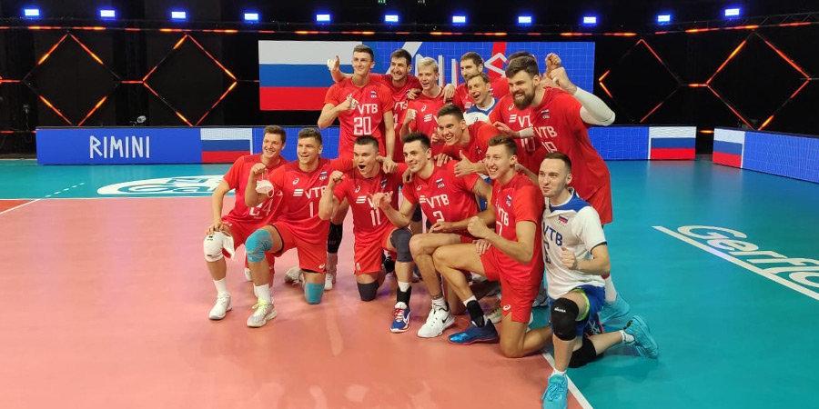 Российские волейболисты успешно начали защиту титула в Лиге наций, обыграв Нидерланды
