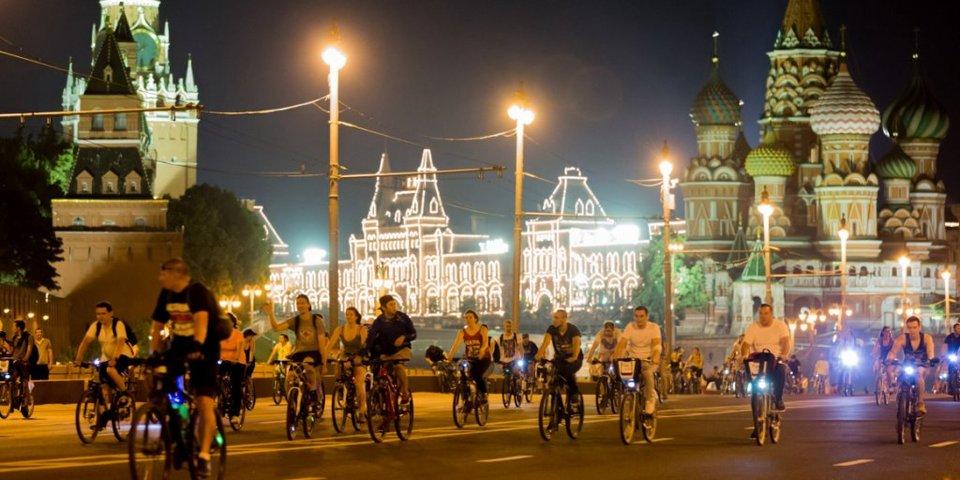 Ночной велофестиваль завершит День московского транспорта