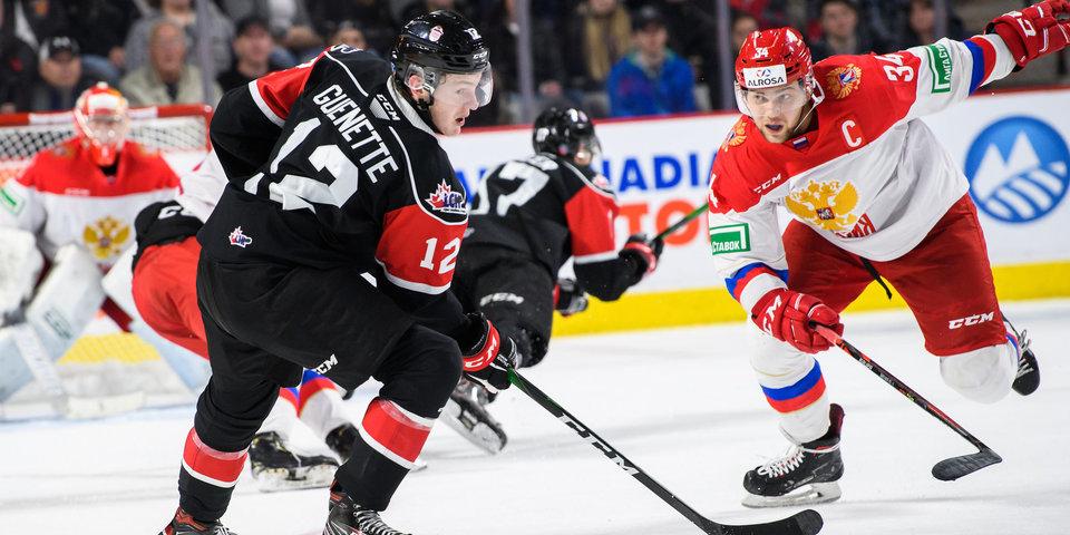 Сборная лиги Онтарио уверенно переиграла российскую молодежку. Это второе поражение сборной России в рамках Суперсерии