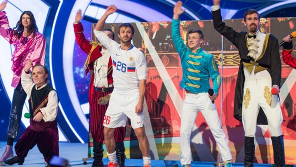 Сычев сыграл в КВН за Сборную Цирка