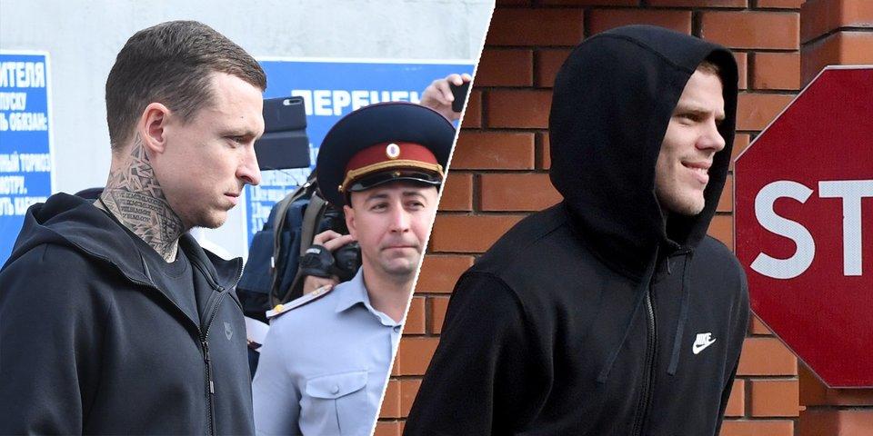 Мамаев и Кокорин вышли на свободу! Отчим футболиста наехал на журналиста, адвокат рассказал о контрактах. Как это было (фото и видео)