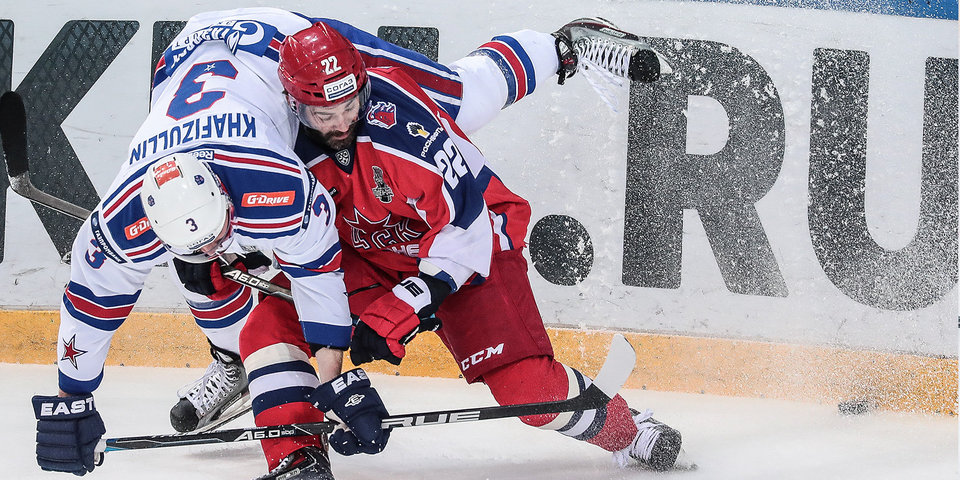 ЦСКА победил СКА и вышел на первое место в лиге. Видео