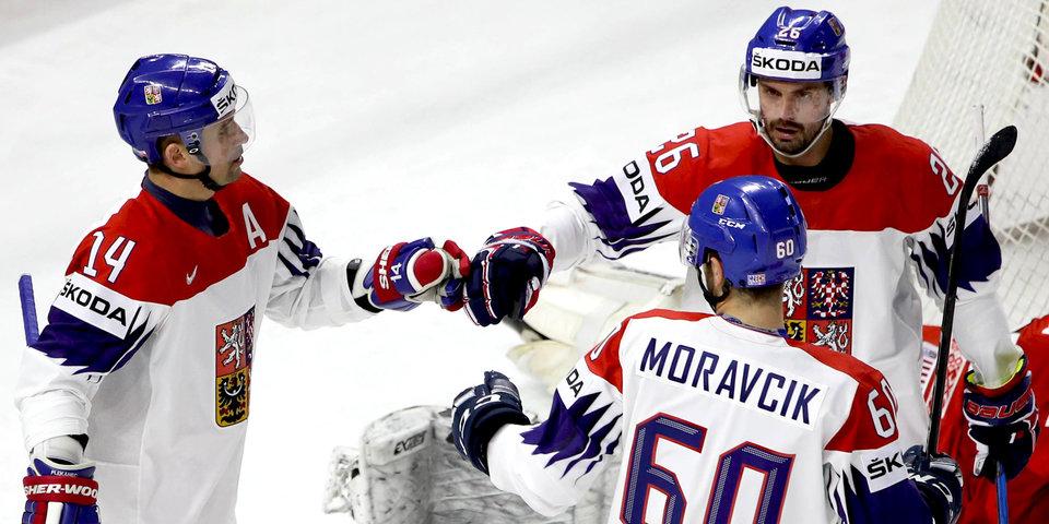 Чехи забросили шесть шайб в ворота французов
