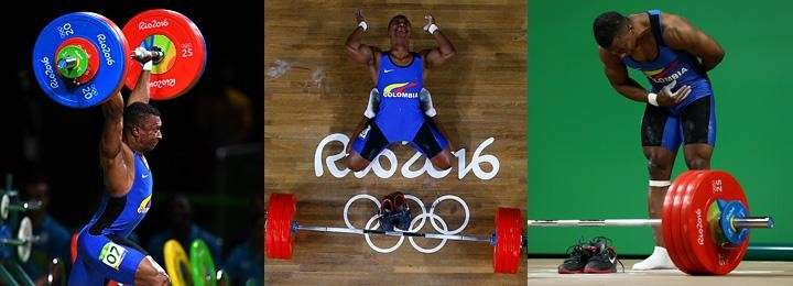 Колумбийский штангист взял олимпийское золото, снял обувь и завершил карьеру