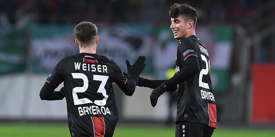 «Байер» одержал волевую победу над «Аугсбургом»