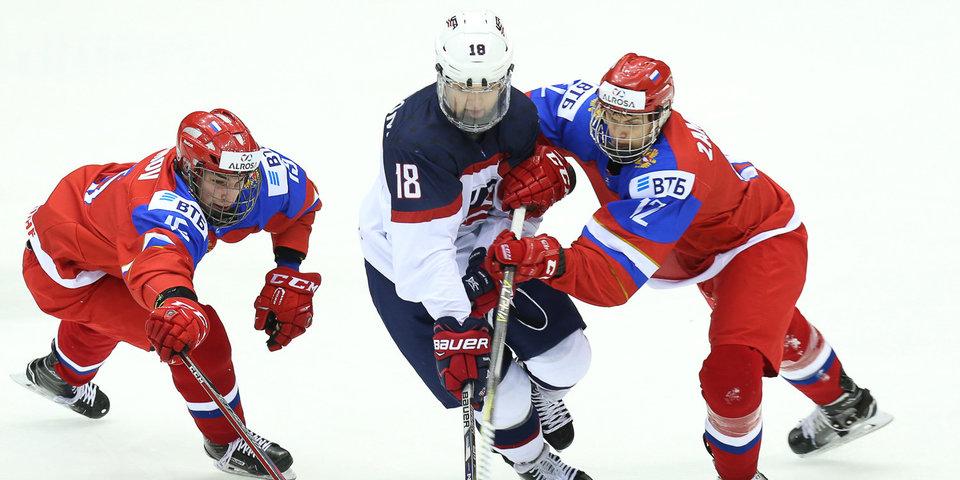 Юниорская сборная России пропустила 4 шайбы за 7 минут. И вылетела в 1/4 финала домашнего ЧМ