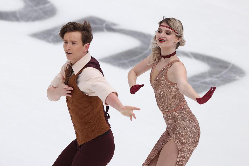 Скопцова и Алешин лидируют после ритм-танца на этапе Кубка России в Москве
