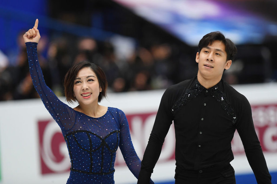 Мишина и Галлямов — третьи после короткой программы в Японии, китайцы установили мировой рекорд