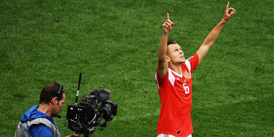 Черышев оформляет дубль, Россия громит Саудовскую Аравию: голы и лучшие моменты