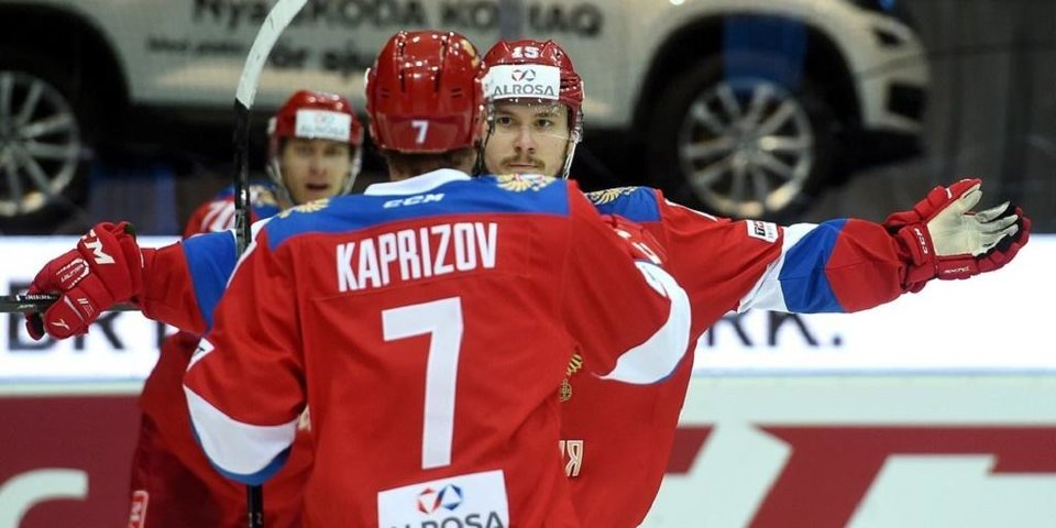 Капризов заменил Панарина на тренировке сборной России
