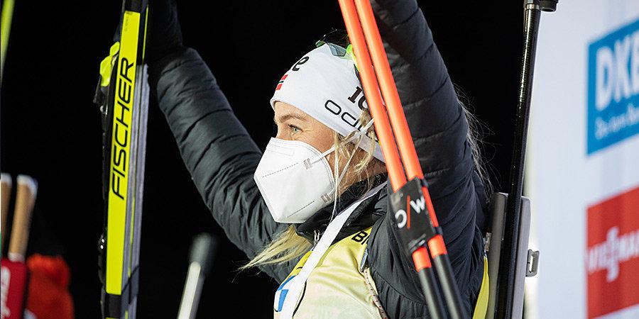 Экхофф выиграла спринт за заключительном этапе КМ, Кайшева — 16-я