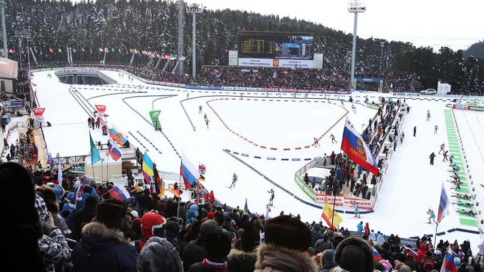 На олимпийский турнир по биатлону продано 10 процентов от запланированного количества билетов