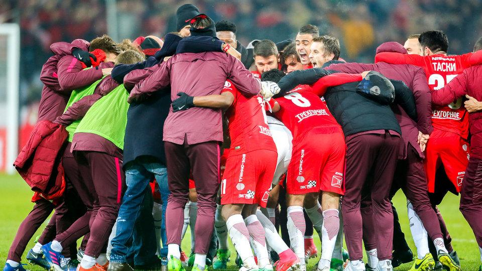 «Спартак» гарантировал себе участие в Лиге чемпионов, обыграв «Томь»
