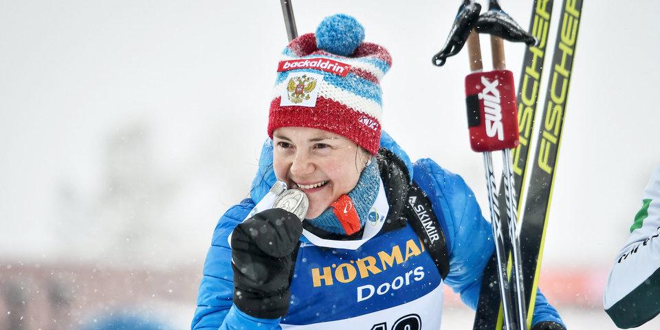 Юрлова-Перхт завоевала серебро в масс-старте на ЧМ в Швеции
