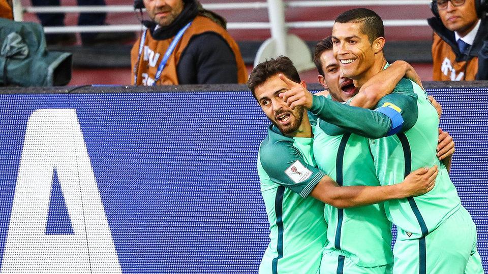 Португалия напрямую вышла на ЧМ-2018, отправив Швейцарию в стыки