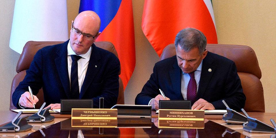 Глава КХЛ и президент Татарстана подписали соглашение о проведении Недели звезд хоккея