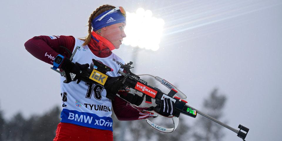 Резцова выиграла серебро в спринте на этапе Кубка IBU в Италии