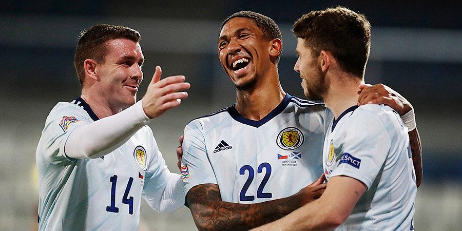 Шотландия обыграла Чехию в Лиге наций, Израиль на последних минутах ушел от поражения в игре со Словакией