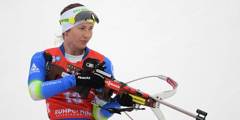 Домрачева выиграла масс-старт наэтапеКМ побиатлону вИталии