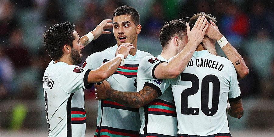 Сборная Португалии разгромила Азербайджан в матче отбора к ЧМ-2022