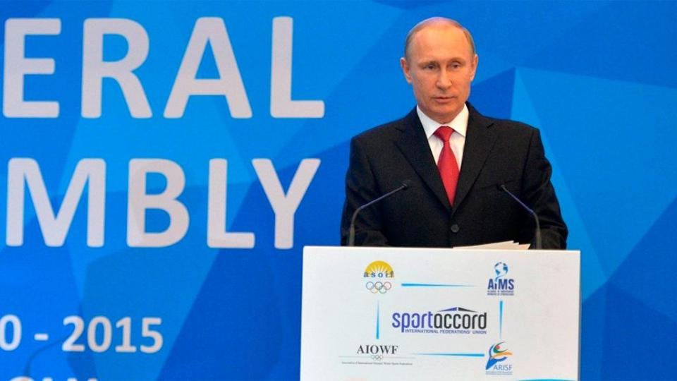 Владимир Путин: «В России никогда не было государственной системы допинга»