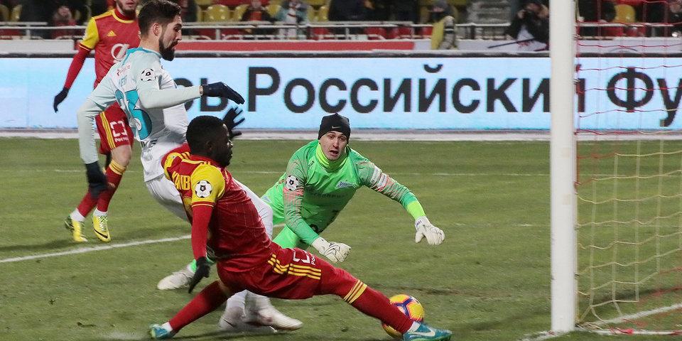 «Зенит» потерпел поражение от «Арсенала» в Туле, пропустив 4 мяча