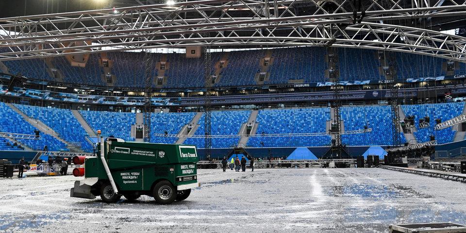 Хоккей на коктейльном льду? Как «Газпром Арена» готовится к «классике»