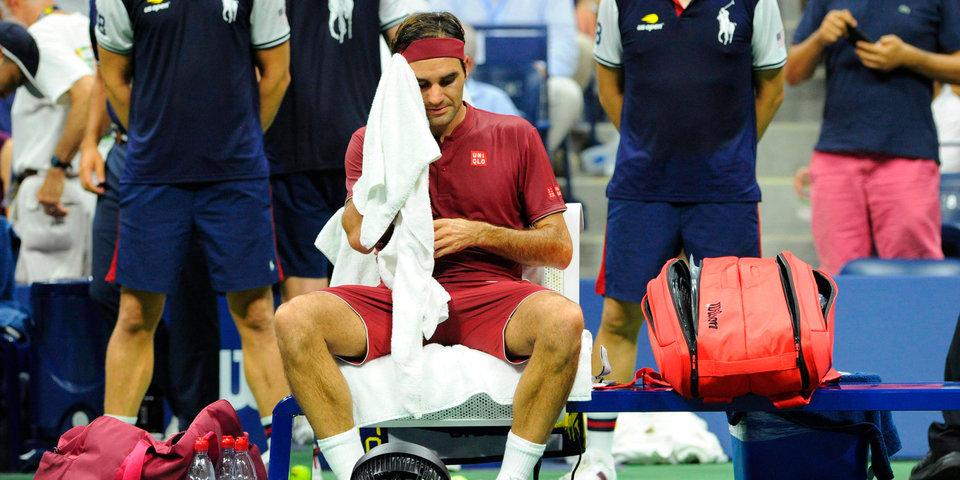 «Казалось, я не могу дышать». Нью-йоркская жара сломала Федерера