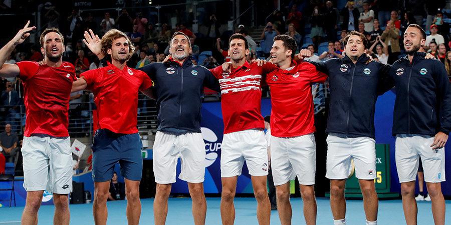 Джокович победил Надаля, а спустя полчаса вышел на парный матч и принес Сербии первый в истории ATP Cup! Как это было (видео)