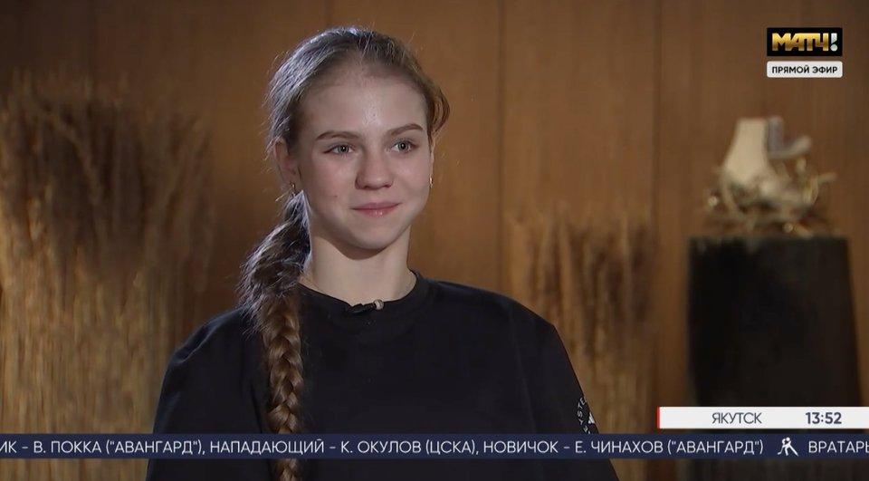 «Цели на следующий сезон? Отобраться на Олимпиаду и прыгнуть пять четверных». Трусова и Плющенко дали интервью «Матч ТВ»
