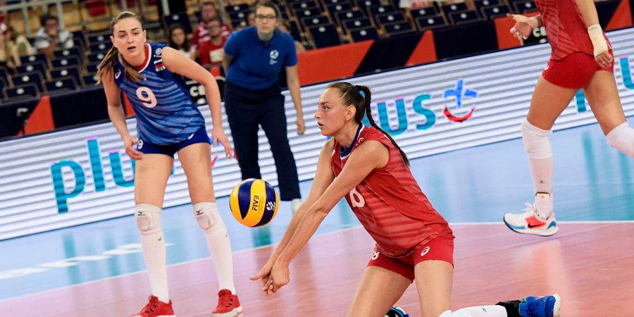 Российские волейболистки потерпели второе поражение в Лиге наций, проиграв Бразилии