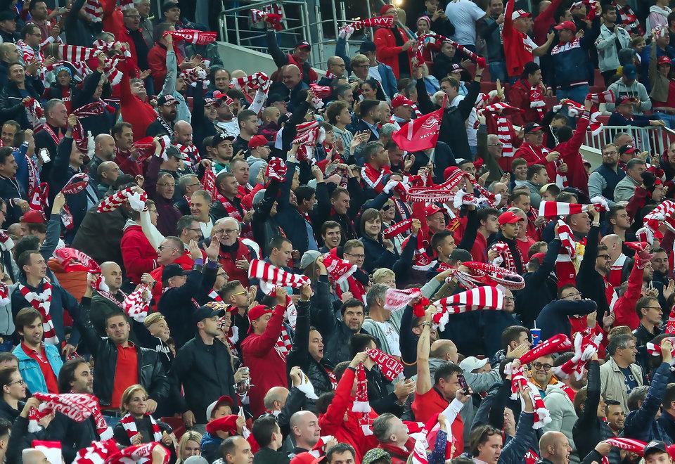 Болельщики «Спартака» попали на стадион в Вене, несмотря на запрет