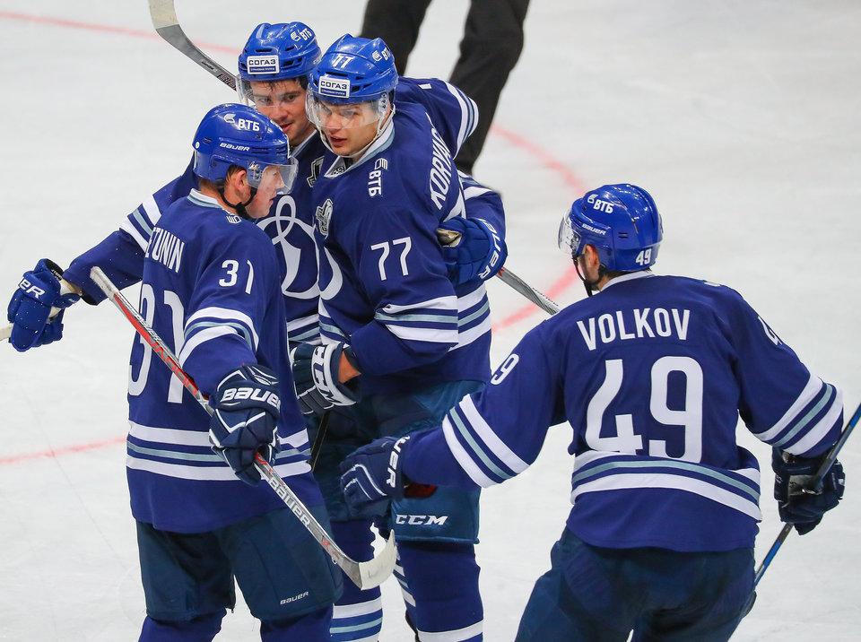 «Динамо» нанесло поражение «Витязю» в КХЛ