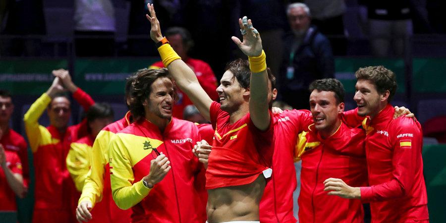 Испания в шестой раз выиграла Кубок Дэвиса. Все решилось в матче Надаля и Шаповалова