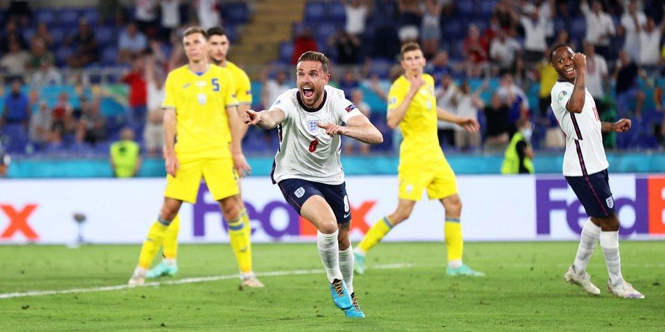 Англия — первая команда, забившая 3 мяча головой в одном матче на чемпионатах Европы
