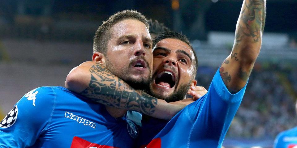 «Наполи» победил «Ниццу», Мертенс забил и заработал пенальти: голы и лучшие моменты
