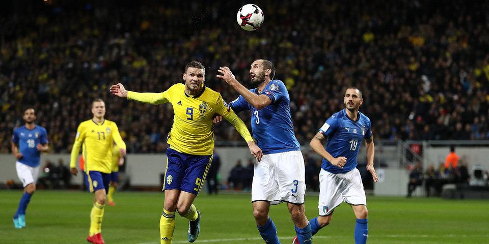 Шведы встают на пути итальянцев в Россию. Гол и лучшие моменты