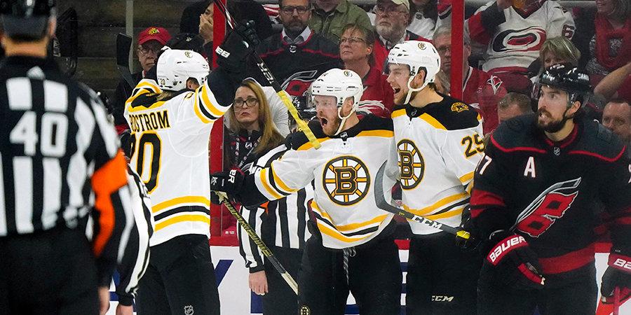 «Бостон» выигрывает в шестом матче подряд. До финала Кубка Стэнли осталась одна победа