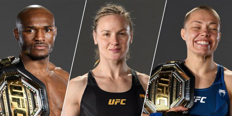 Усман и Шевченко защитили пояса, Намаюнас — новая чемпионка. Главный кард UFC 261 завершился за 20 минут